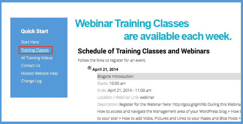 Webinar Training for Support Center